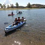 En kayak, encinar de Escardiel 2019 -2