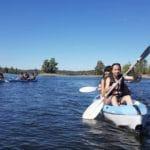 En kayak, encinar de Escardiel 2019 -3